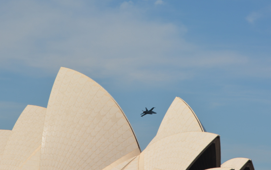 F18 between the Opera House