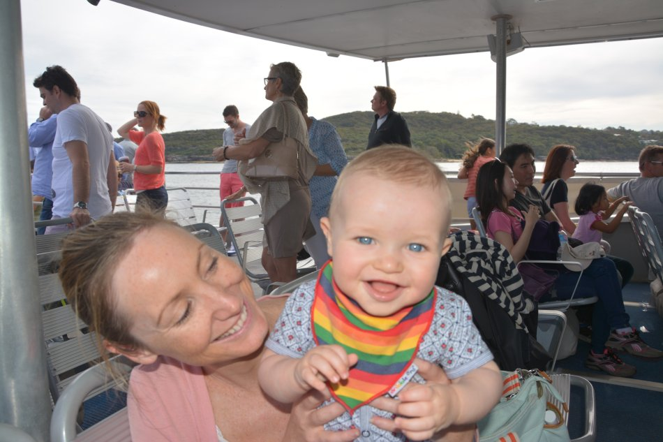 Oscar loving the fast ferry