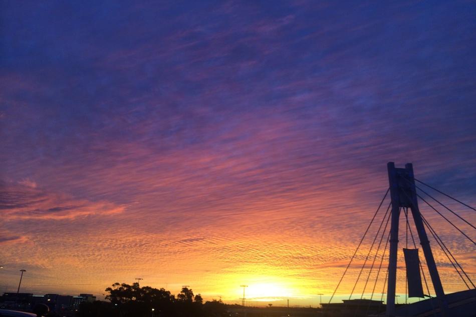 Sunset on Return